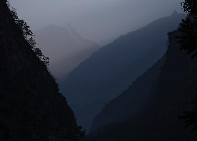 Nilgiri South (6,839 m) from Tatopani