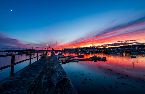travel vacation summer sunset boothbay harbor maine reflection pier nikon d750 boat fish fishing