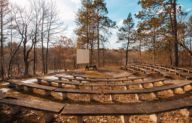 Campground Amphitheater at Crow Wing State Park, Minnesota