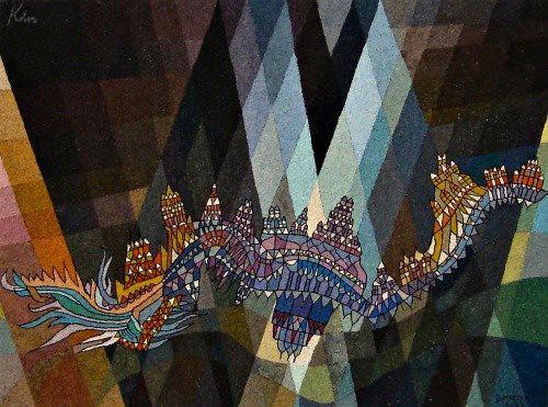 Paul Klee, L'inondation lave les villes, 1939.
