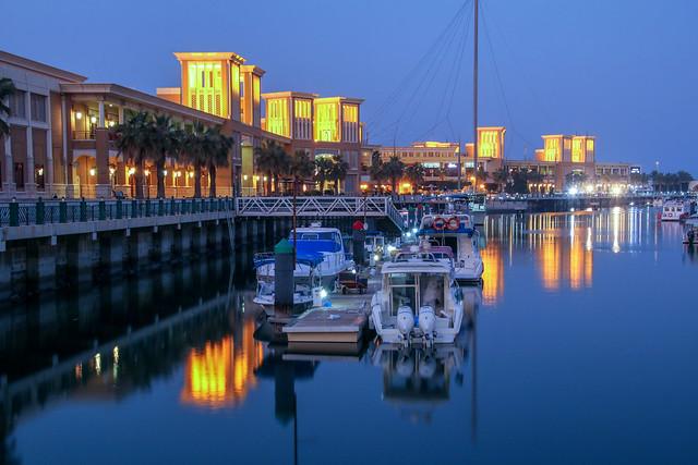 View of souq sharq shopping mall and marina in Kuwait city, Kuwait