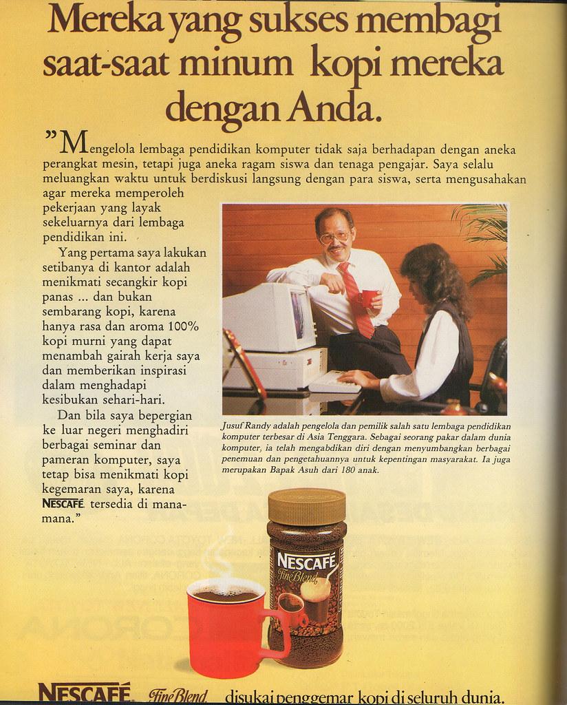 Nescafe - Majalah Eksekutif, Oktober 1988