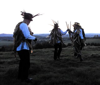 Dancing, Beltane at Wedgwood's Monument, Staffordshire