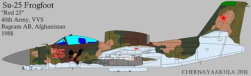 Early artist impression of Soviet RAM-J (Su-25 'Frogfoot')-Bagram1988 | by Motschke