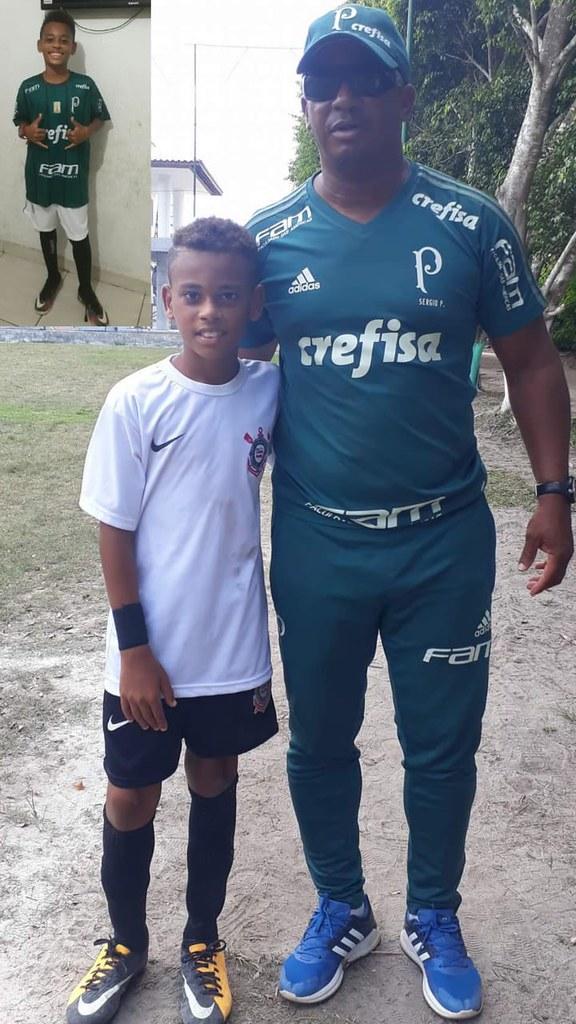 Saymonn e olheiro do Palmeiras