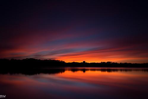 sunset freemanlake merrimackvalley crystal lake northchelmsford chelmsford longexposure leefilters bigstopper sky