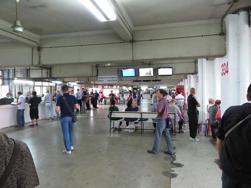 タイの競馬場のスタンド内部