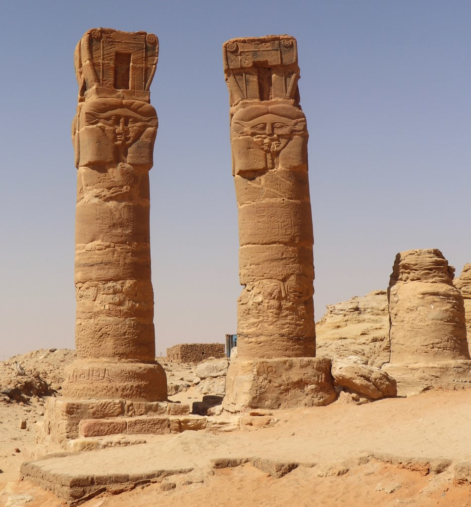 Gebel Barkal 05 - Hathor-headed columns | Catherine Rouse ... on