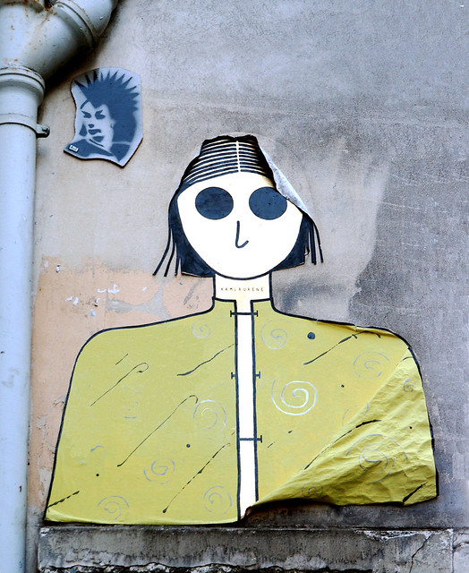 Pasted paper by Kam & Laurene [Paris 18e]