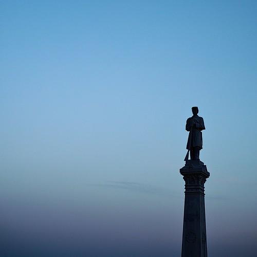 tourism outdoors monument civilwar sky clouds blue silhouette sunset leicam240 summicron50mmf20