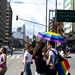 Rainbow Umbrella and the streets - LGBT pride Bogotá 2018