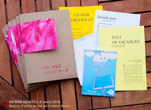 Un mar degota n.9, estiu de 2018. Revista d'autor de Ferran Cerdans Serra.