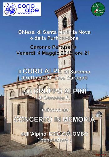 Concerto in memoria dell'Alpino Ezio Colombo   by Coro Alpe di Saronno