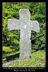 Early Medieval Stone Cross Near Fantoft Stave Church,  Bergen Norway 18 May 2018