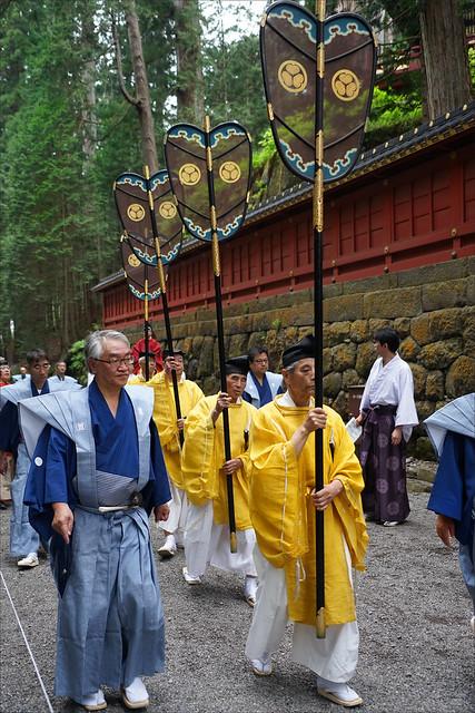 L'Emblème des Tokugawa dans la procession Hyakumono-Zoroe Sennin Gyoretsu (Shunki reitaisai, Nikko)
