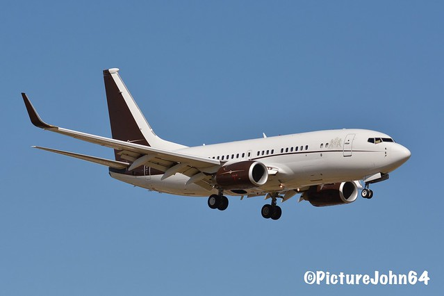 B737BBJ: PVJ135 Privajet Ltd Boeing 737 (9H-BBJ) arriving from Hato Curacao with King Willem Alexander and Queen Maxima on board