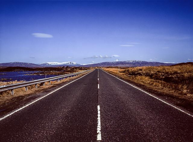 The cliché road shot, Scotland.