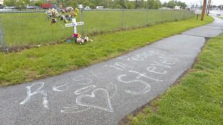 Roadside Memorial for Steven Smith (2 of 3)