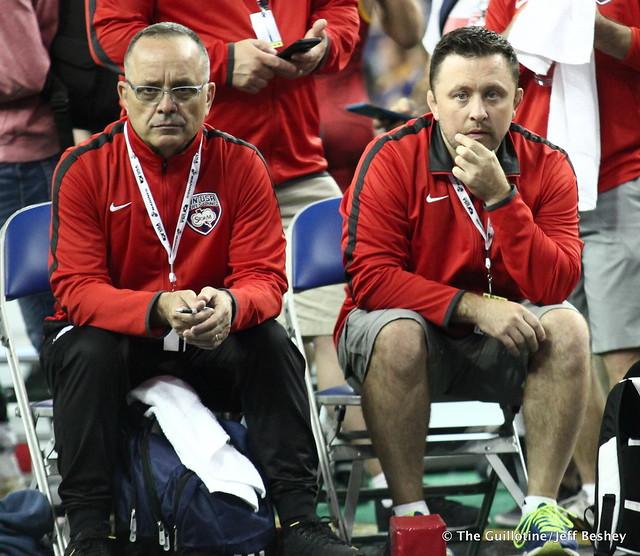 Minnesota Coaches Jim Moulsoff and Adam Thronson 180718BJF0070