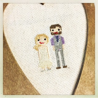 Cross Stitch Wedding Portrait | by milly and tilly