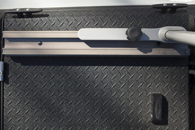 A Heavy Duty Truck Bed Cover And Custom Rack On A Ford Raptor