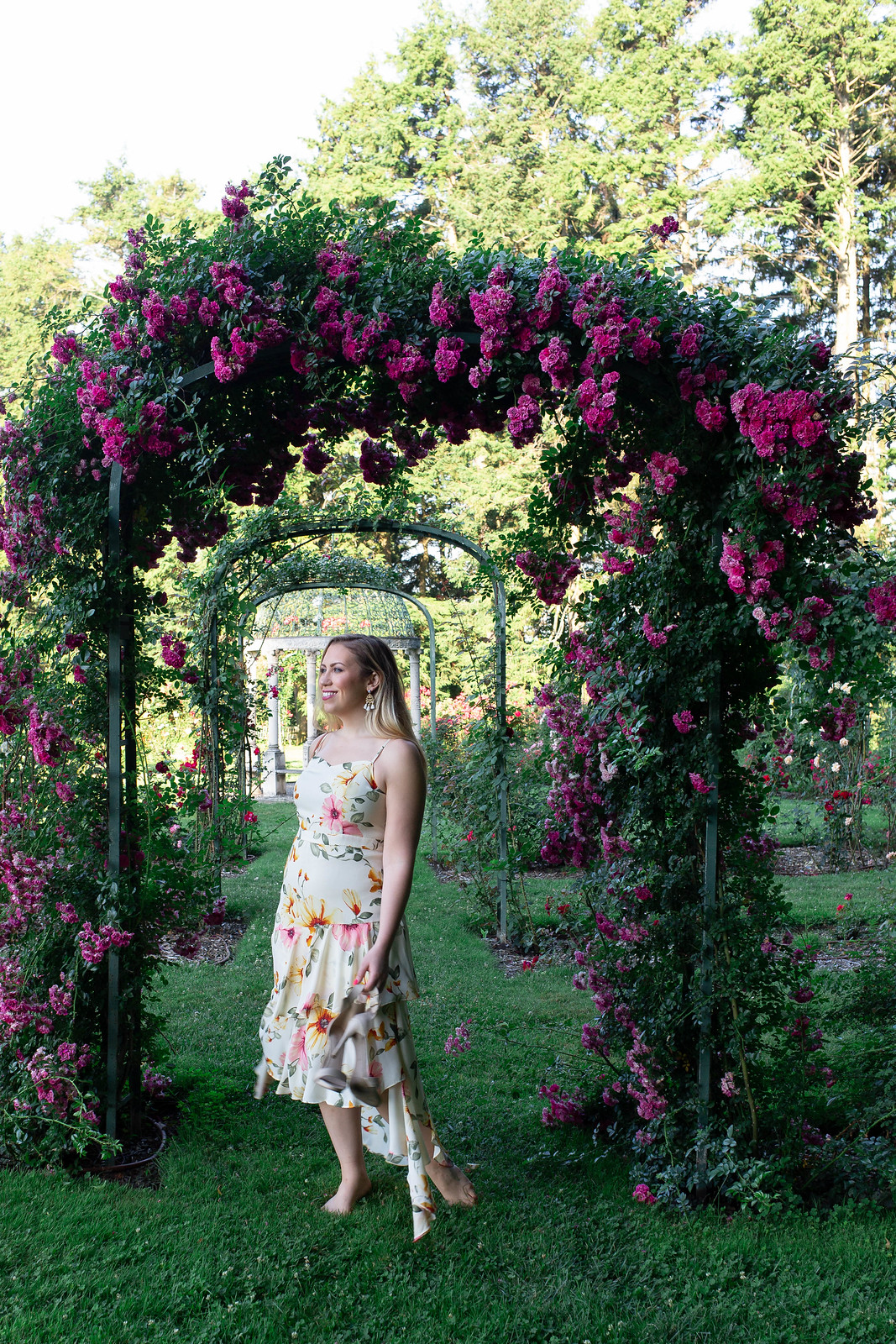 Lyndhurst Mansion Rose Garden Tarrytown Most Instagrammable Places in Westchester County New York