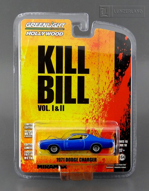 Kill Bill Vol I & II ~ 1971 DODGE CHARGER 1:64 scale die cast Mint On Card by Greenlight Hollywood Collectibles series 10