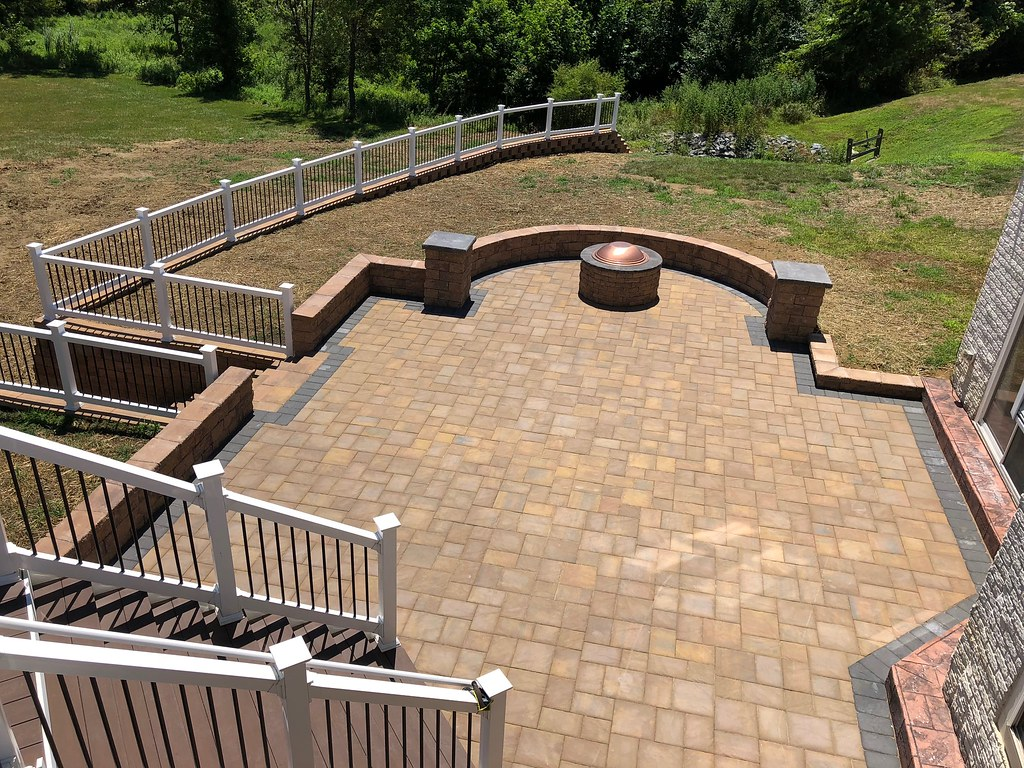 Retaining Wall Railing Patio Deck With Steps In Bowie Md | Flickr