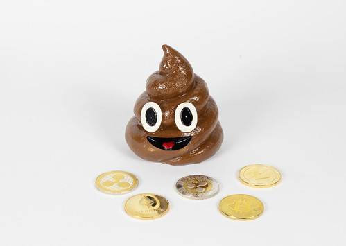 Cryptocurrencies with poop toy | by wuestenigel