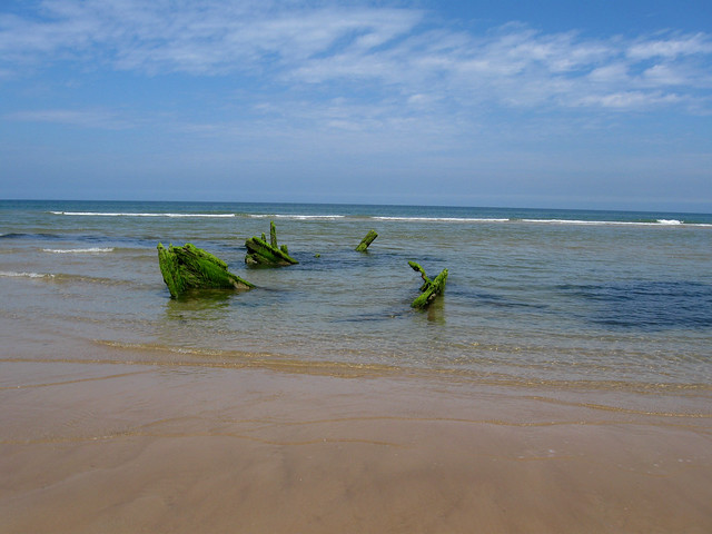 Shipwreck on Blakeney Point
