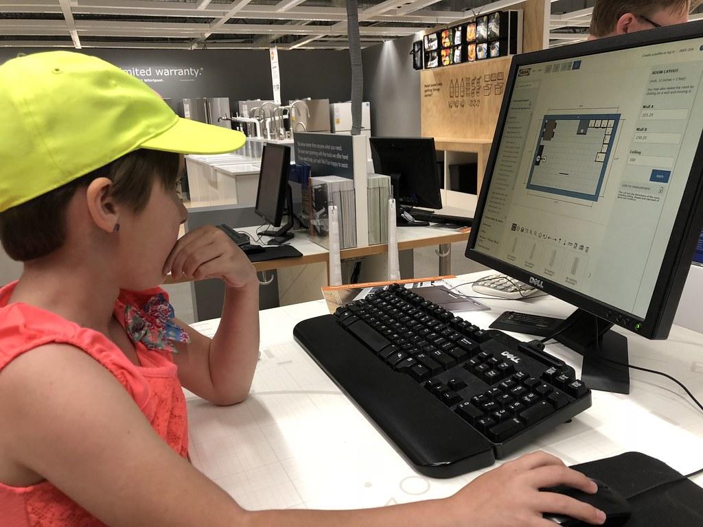 Renee designing an IKEA kitchen