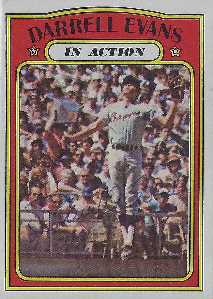 1972 Topps In Action Darrell Evans 172 First Base Flickr