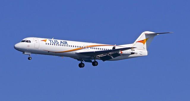 JSI/LGSK: TusAir Fokker F100 (F-28-0100) 5B-DDD