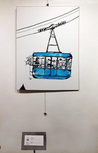 téléphérique bleu