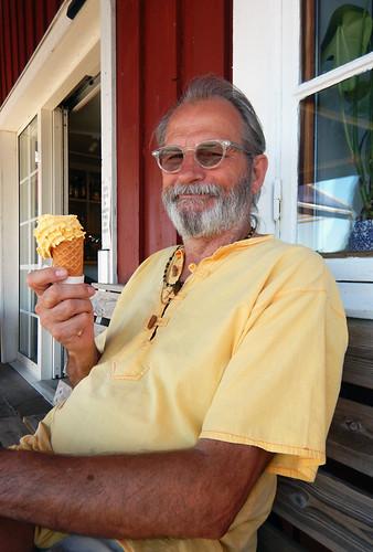 A mango ice cream at Fjallbacka, Sweden