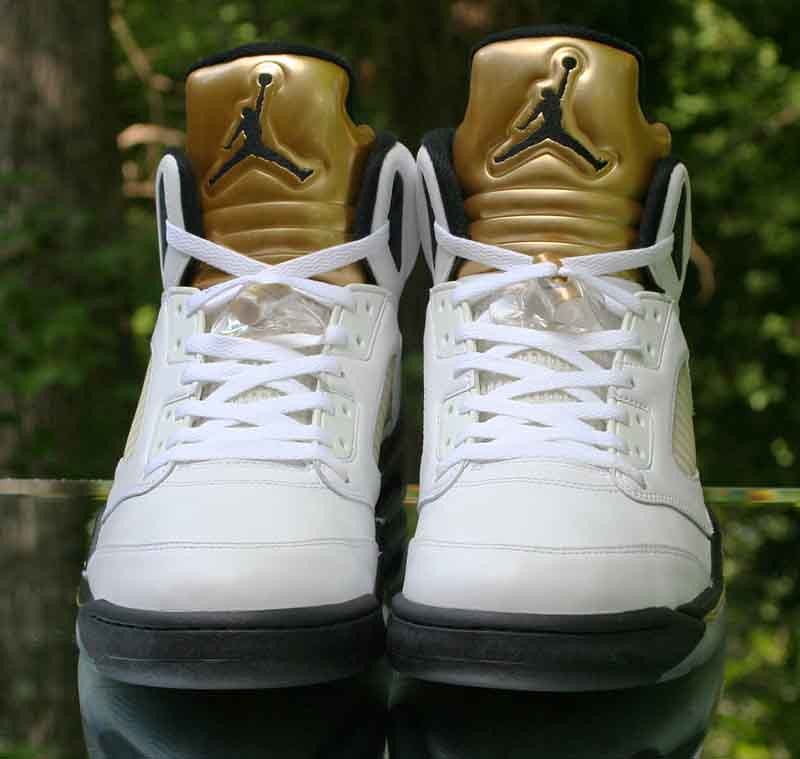 f50efe4ea38 ... Nike Air Jordan 5 Retro Olympic Gold Coin White Black 136027-133 Size  12