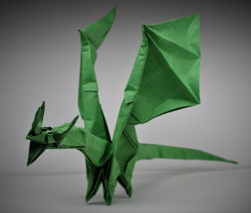 Shuki Kato - Simple Dragon (Double Seda - 30x30 cm)   Fajne rzeczy   868x1024