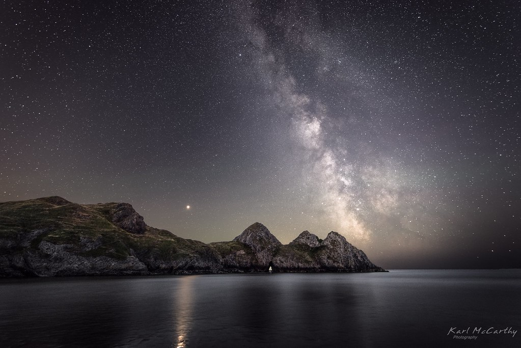 Image result for three cliffs at night