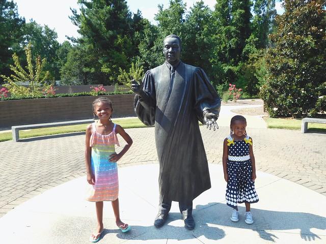 Jaeda and Jordyn at Dr. Martin Luther King, Jr Memorial Gardens, Raleigh, NC.