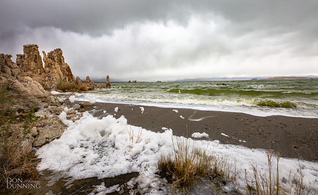 Mono Lake, California During Rainstorm2