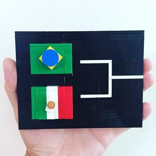 2018 FIFA WORLD CUP RUSSIA🏆 Round of 16 BRAZIL VS MEXICO   by DOGOD Brick Design