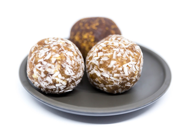 Energy Balls with coconut and strawberry