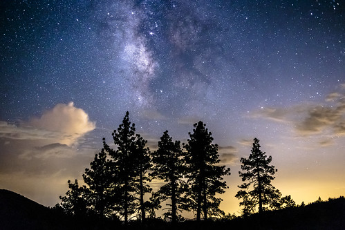 green sandiego mountlaguna night milkyway mountains pines trees pinetrees clouds cloudy california julian unitedstates us