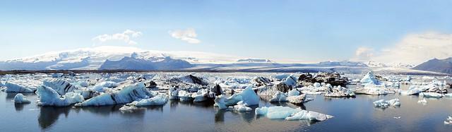 panoramica Laguna Jokulsarlon en el glaciar Vatnajokull Islandia 01