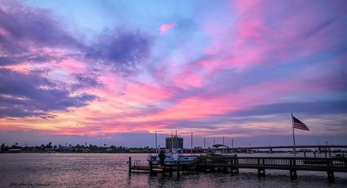 canon florida kathrynlouise sunset sunrise landscape seascape seashore seaside americanflag dock peir boats bridge newsmyrnabeach gratefuldeadlyrics roberthunterlyrics