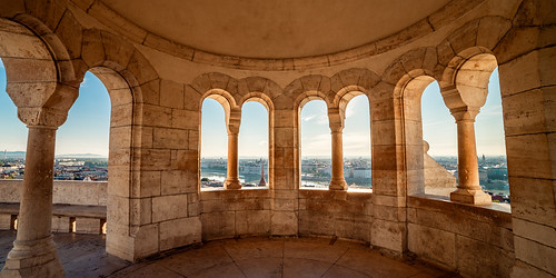 travel traveler traveling tisfortraveler backpacker exploration europe explore digitalnomad canon 5d markii samsung 14mm widelens architecture arc window sunrise morning castle budapest hungary panoramic hdr view