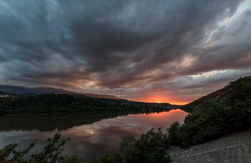 nikon d750 nikond750 irix 15mm irix15mm bulgaria dam pancharevo trees water mountain colorfull twilight sunset reflection clouds