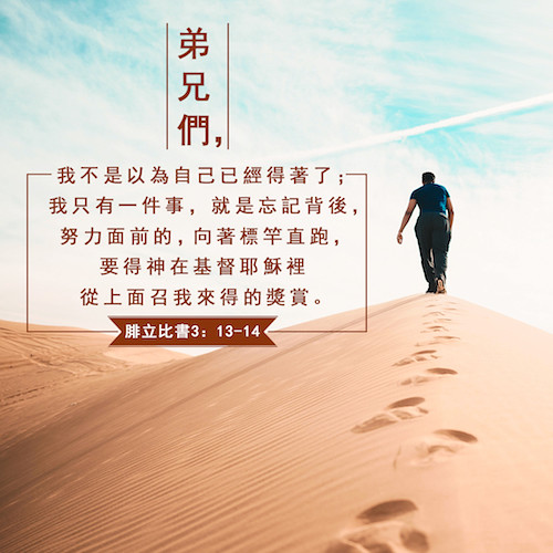 Image result for 「忘记背后,努力面前。」(腓3:13 )