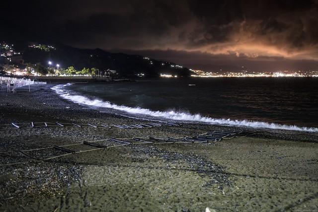 Shore at night