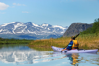 Paddling at the gates of Sarek (remastered photo) | by talaakso